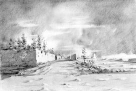 کرباش یولی (مسیر چهار بخش). بین آخنی و راه آهن